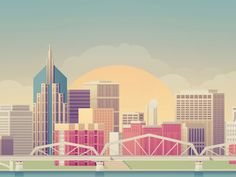 Wired - Nashville by Justin Mezzell #illustration #city #skyline