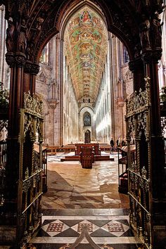 The Norman Ely Cathedral, Cambridgeshire, England. By Cathedrals and Churches of Great Britain.