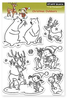 Christmas Outdoors - Clear Stamp