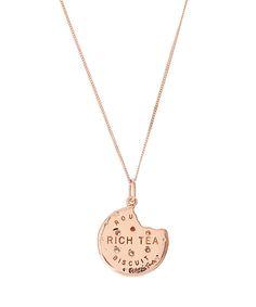 True Rocks Rose Gold-Plated Rich Tea Bitten Biscuit Necklace