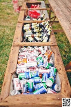 6. Use a #Flower Box as a Rustic #Drink Cooler - 51 #Ideas for Your Outdoor…