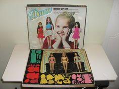 Vintage Colorforms Set Dawn Dress Up Set 3 Dolls 1970 Topper Corporation   eBay