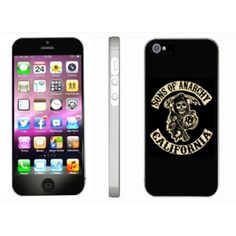 b11f107f91c8 Coque pour iPhone 5 personnalisée Sons OF Anarchy, Etui telephone portable  rigide ou silicone.