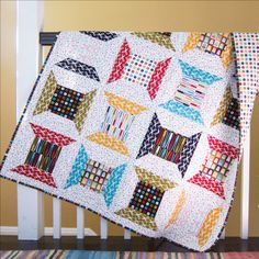 Retro Spools Quilt <br>by Michelle Engel Bencsko Quilter's Cotton from Make It Sew Projects for Cloud9 Fabrics