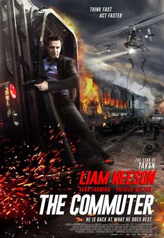 The Commuter Liam Neeson action thriller with Vera Farmiga and Patrick Wilson. New Movies 2018, Hd Movies Online, Action Movie Poster, Action Movies, Action Film, Movie List, Movie Tv, Free Hollywood Movies, Hollywood Actresses