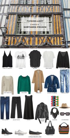 What to Pack for Northern France Packing Light List | What to pack for France | What to Pack for Europe | Packing Light | Packing List | Travel Light | Travel Wardrobe | Travel Capsule | Capsule |