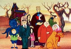 The Addams Family is an animated adaptation of the Charles Addams cartoons produced by Hanna-Barbera Productions in 1973. Description from wallpapers-junction.com. I searched for this on bing.com/images