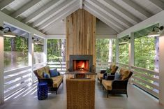A screened porch is a type of porch that has been covered by window screens. In this video I'm going to show you 25 stunning screened porch design ideas. Screened In Porch, Porch Swing, Front Porch, Side Porch, Porch Kits, Porch Ideas, Patio Ideas, 3 Season Porch, Porch Fireplace