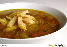 Zeleninová polévka s celestýnskými nudlemi a pestem z medvědího česneku recept…