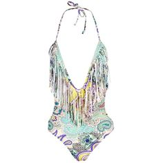 Boohoo Barcelona Paisley Deep Plunge Swimsuit | Boohoo (£15) ❤ liked on Polyvore featuring swimwear, bikinis, swimsuits two piece, triangle bathing suits, two piece bathing suits, high waisted bathing suits and high waisted two piece bathing suit