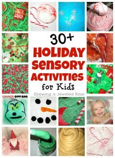 TONS of Holiday Sensory Activities for Kids!