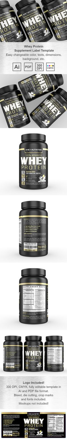 Organic Spirulina Powder Label Template Creative Brochure - labeltemplate