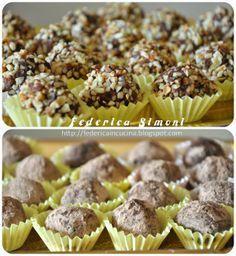 La cucina di Federica: Tartufini con mascarpone e biscotti