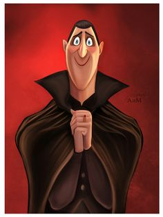 Aww, dad. I love that guy! | Hotel Transylvania Dracula fan art by Niniel-Illustrator