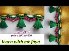 Saree Kuchu New Designs, Saree Tassels Designs, Silk Saree Blouse Designs, Big Rangoli Designs, Art Designs, Bandhini Saree, Engagement Mehndi Designs, Basic Embroidery Stitches, Simple Sarees