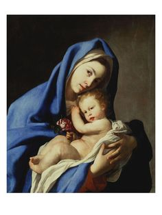 The Madonna and Child  Giclee Print  by Massimo Stanzione