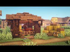 Minecraft Horse Stables, Minecraft Barn, Casa Medieval Minecraft, Minecraft Shops, Easy Minecraft Houses, Minecraft House Tutorials, Minecraft Modern, Minecraft Castle, Minecraft Decorations