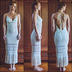 Handmade Crochet Wedding Dress LUNA NUEVA by IsaCatepillan on Etsy