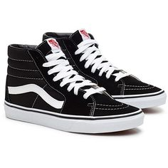 Classic Sk8-Hi sneakers Men ($90) ❤ liked on Polyvore featuring men's fashion, men's shoes, men's sneakers, mens sneakers, mens high tops, mens hi tops, mens black hi top sneakers and mens shoes