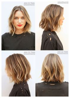 Most like my hair texture, but I want a longer and more angl… Short tousled hair. Most like my hair texture, but I want a longer and more angled look with longer piece in front. More layers Tousled Hair, Wavy Hair, New Hair, Your Hair, Ombre Hair, Choppy Hair, Curls Hair, Thick Hair, Hair Inspo