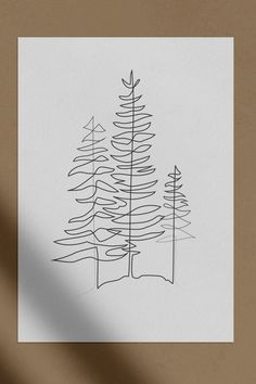 Single Line Tattoo, Single Line Drawing, Continuous Line Drawing, Doodle Sketch, Sketch Drawing, Drawing Art, Art Abstrait Ligne, Tree Line Drawing, Tree Sketches