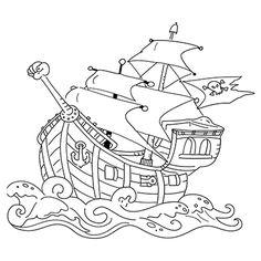 "Marabu Window Color Malvorlage ""Piratenschiff"" http://marabu.com/k/pis   #Marabu #WindowColor #Malvorlage"