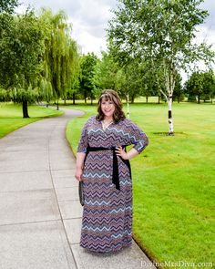 Hailey is staying summer chic in the Moroccan Maxi Wrap Dress by Kiyonna. Fit tips and details on the blog! - DivineMrsDiva.com #Kiyonna #KiyonnaStyle #KiyonnaPlusYou #CrocsSandal #Crocs #CharmingCharlie #psblogger #plussizeblogger #styleblogger #plussizefashion #plussize #psootd #ootd #plussizeclothing #outfit #spring #summer #fall #style #plussizecasual #maxi #maxidress #wrapdress