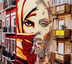 Shepard Fairey & Vhils street art