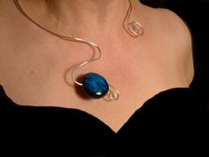 wire wrap polymer clay jewelry | Handmade wire choker with polymer clay focal. - Media - Beading Daily