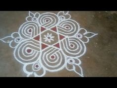 Simple Rangoli Designs Images, Rangoli Designs Latest, Rangoli Designs Flower, Rangoli Border Designs, Rangoli Designs With Dots, Rangoli Designs Diwali, Kolam Rangoli, Beautiful Rangoli Designs, Latest Rangoli