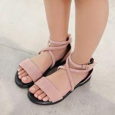 d88d9dfdb165 2018 Ljetne djece romantične cipele za djevojčice stanovi slatka princeza  sandale dijete beba djeca pere kožne cipele crna veličina 26-37