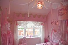 Disney princess themed room at   www.facebook.com/madeforpelmetandcurtains