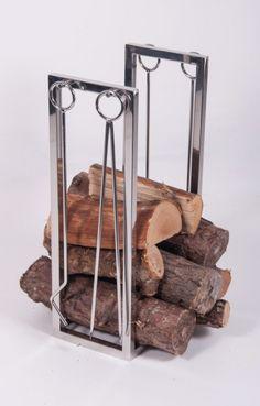 """Thorrum Grange"" Companion Set with Log Holder - Companion Sets - Fireplace Accessories - Catalogue : Black Country Metalworks Ltd"