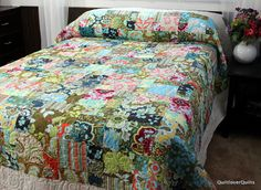 Handmade Patchwork Queen Bedding with by QuiltloverQuilts on Etsy, $395.00