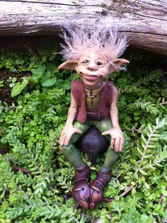 OOAK elf sculpture polymer clay art doll by feythcrafts on Etsy, $60.00