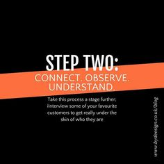 CONNECT. OBSERVE. UNDERSTAND. If you have more time you can take this process a stage further.  Interview some of your favourite customers to get really under the skin of who they are. For example:   Discover what really matters to them Get to know their worldview Understand their motivations and their vision for the world  www.bydeesign.co.uk/blog