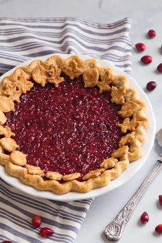 Make a Cranberry Pie for your Thanksgiving dinner!