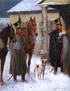 8º Régiment de Lanciers - Officier et Cavalier - Jan v Chelminski
