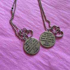 Best friend necklace chains  Silver plated best friend necklaces, set of 2, perfect for you and your bestie, interested? Feel free to make an offer :) Jewelry Necklaces
