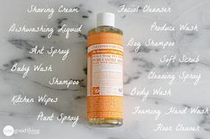 Up until a couple of years ago I had to special order castile soap online but today you can usually find it at your local grocery store! This natural soap is definitely making a comeback! And no wonde Castile Soap Uses, Castile Soap Recipes, Diy Cleaners, Cleaners Homemade, Household Cleaners, Kitchen Cleaners, Cleaning Spray, Green Cleaning, Teeth Cleaning