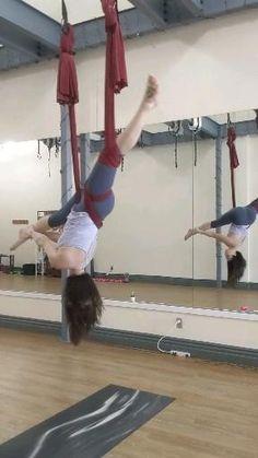 Aerial Dance, Aerial Yoga Hammock, Aerial Hoop, Pole Dance, Gymnastics Videos, Gymnastics Workout, Iyengar Yoga, Anti Gravity Yoga, Air Yoga