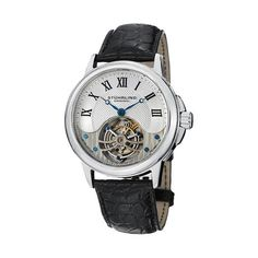 Amaze with the Stuhrling Tourbillon. Perplexing and intricate in design, it provides a truly mystifying experience. It is an exhibit of brilliant craftsmanship and fine engineering. A watch revered by all and recognized as a symbol of prestige. Th...