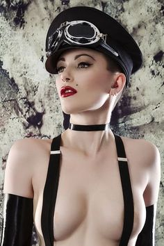 """Dieselpunk - Is it me, or does there seem to be way more with the """"sexy"""" in this genre? This is The Night Porter with goggles!"""