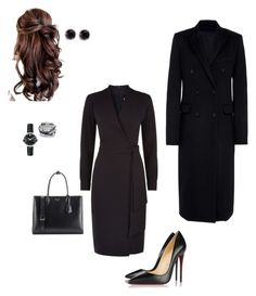 """Work"" by cgraham1 on Polyvore featuring MaxMara, Christian Louboutin, Prada, Charriol and Movado"