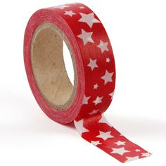 Paperchase - White stars on red washi tape