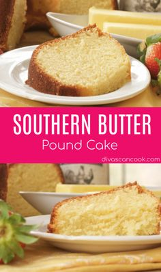Southern Butter Pound Cake Old Fashioned Classic Butter Pound Cake poundcake dessert cake southern butter Easy Pound Cake, Pound Cake Recipes, Easy Cake Recipes, Dessert Recipes, Best Pound Cake Recipe, Almond Pound Cakes, Snack Recipes, Snacks, Food Cakes