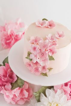 Flower Cake Design, Flower Pot Cake, Fondant Flower Cake, Fondant Cakes, Fondant Bow, Fondant Tutorial, Cupcake Cakes, Fondant Figures, Fairy Birthday Cake
