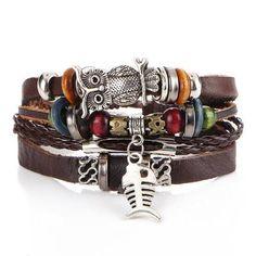 Turkish authentic motif real leather bracelet