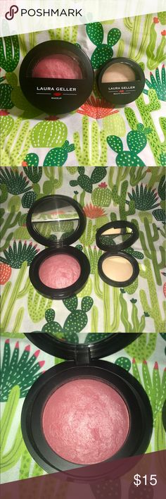 Laura Geller Blush and Highlight duo Gently used Laura Geller highlight and blush duo. Blush in the shade Bali and her French vanilla highlight. Both items have been cleaned and disinfected. Bundle 3+ items and save 15%. I ship the same day or very next day. Make me an offer! laura geller Makeup Blush