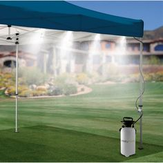 Misty Mate Cool Camper 6 Outdoor Misting System this would be nice for HOT summer days Canopy Outdoor, Canopy Tent, Outdoor Fun, Tents, Camping Water, Tent Camping, Glamping, Camping Gear, Gardens